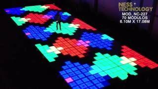 Ness Technology Pistas - YouTubePista de 27 canales DMX, fabricada en aluminio, terminada en cristal templado. Medida 1.22 x 1.22 m, cada módulo. #led dance floor #pista de baile #pista iluminada led #pista led #iluminacion led #led dance floor #led furniture #led template