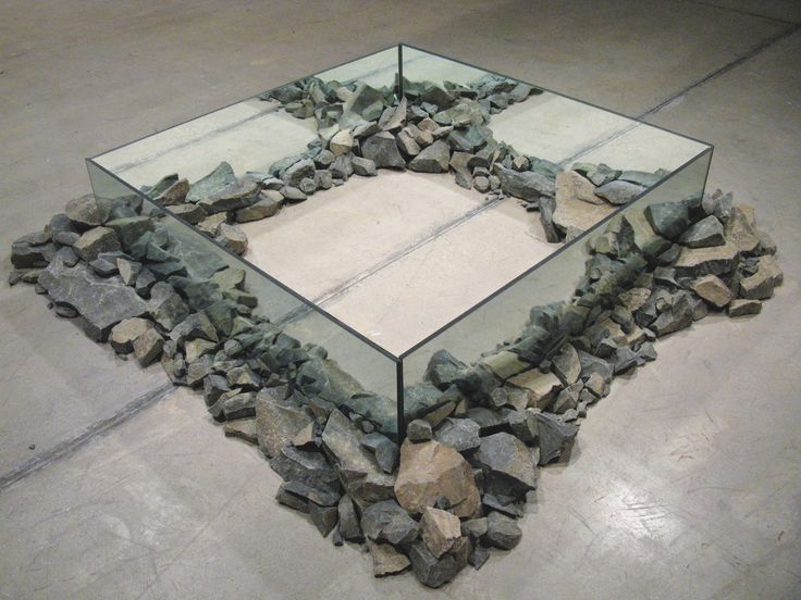 ROBERT SMITHSON Rocks and Mirror Square II, 1971