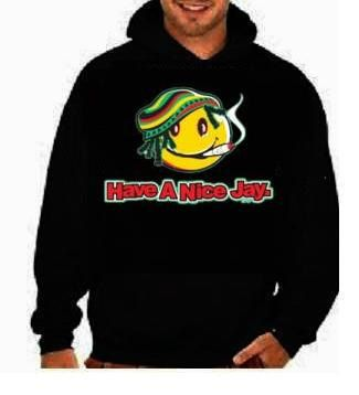hoodie: smily Have a nice jay yaman jamaica sweat shirts