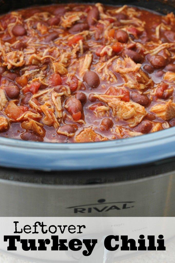 Crockpot Turkey Chili Recipe | Leftover Thanksgiving Turkey Recipe