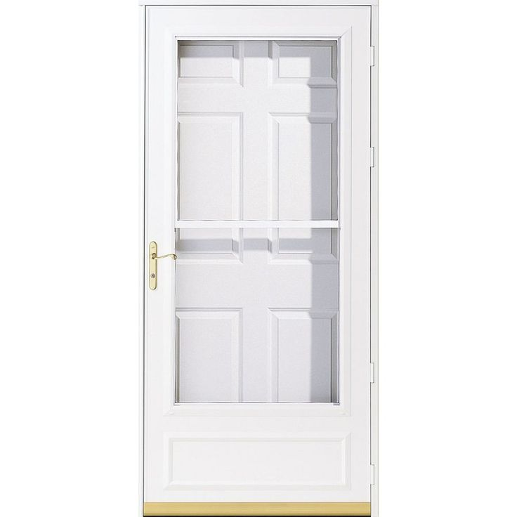 Pella Helena White Mid View Safety Wood Core Retractable