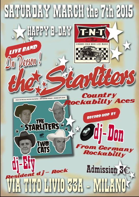 Saturday April the 7th TNT Milano - The Starliters