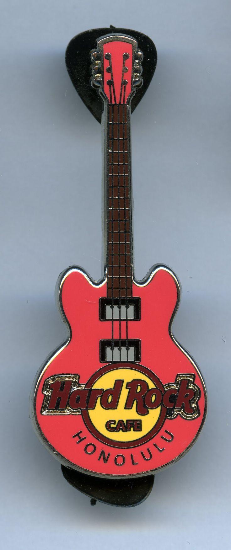Honolulu - Hard Rock Cafe Guitar Pin