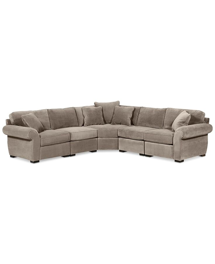 Trevor Fabric 5 Piece 117 L Shaped Sectional Sofa