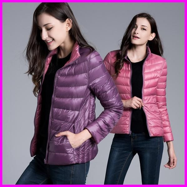 Reversible Two Side White Duck Down Jacket Warm Winter Coats Parkas Lightweight Down Jackets - Stylish n Trendier