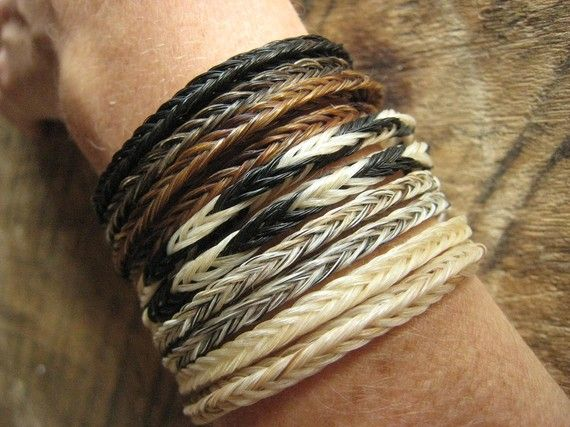 """Remembering your horse with horse hair jewelry."" horsehair bracelets"