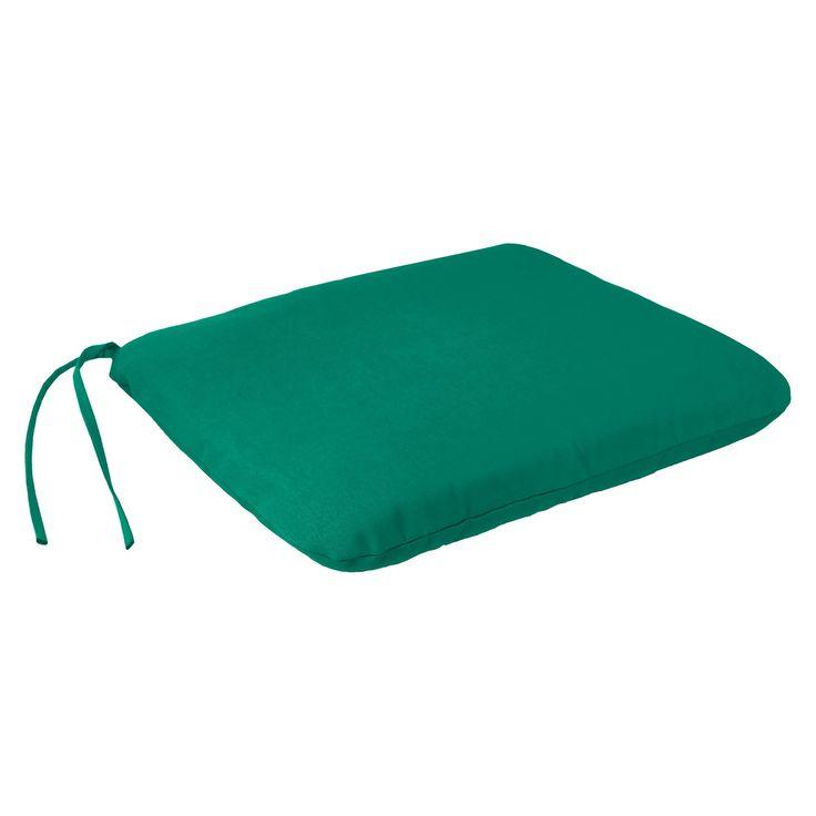 Jordan Square Dining Seat Pad - Teal Opaque
