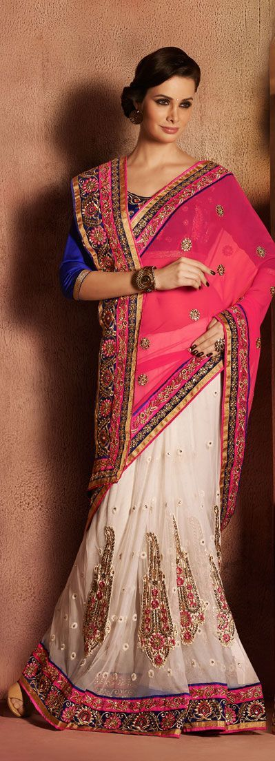Indian Bridal Lehenga Sari for Wedding & Party Wear