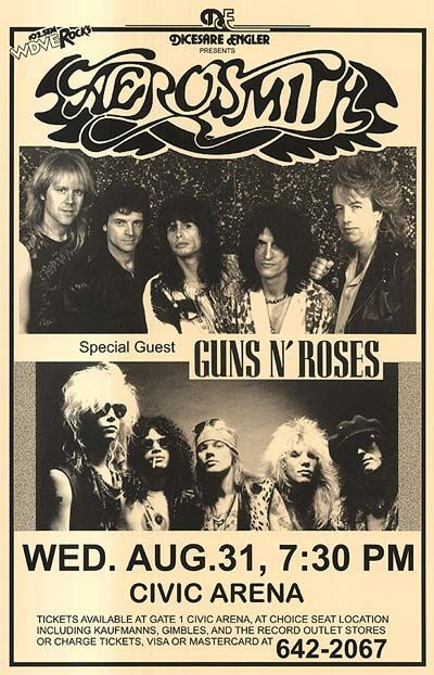 Aerosmith and Guns N Roses on one bill? Sounds like a great time!