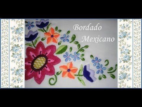 ♥ Como bordar flores en Bordado Mexicano ♥ Mantelito ♥ Guarda N°12 ♥ Par...