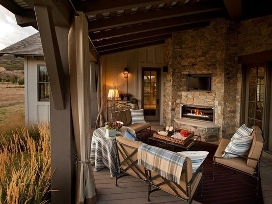 Southern Inspired: HGTV Dream HomeHgtv Dreams Home, Outdoor Living Room, Outdoor Living Spaces, Outdoor Room, Back Porches, Outdoor Fireplaces, Outdoor Spaces, Back Patios, Outdoor Living Area