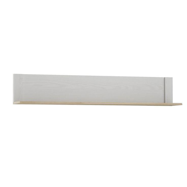 Raft de perete cu elemente din lemn Szynaka Meble Alice, alb