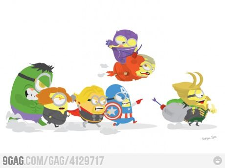 Minions + Avengers For you Allison and Erica. I know you guys like those minions lol