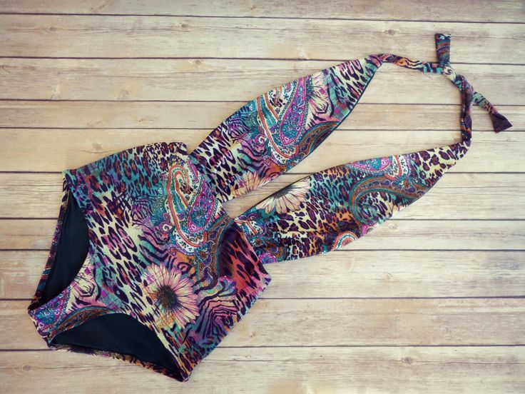 Swimsuit High Waisted Vintage Bohemian Style One Piece -  Retro Pin-up Floral, Paisley & Animal Print Swimming Costume Bathing Suit Swimwear by Bikiniboo on Etsy https://www.etsy.com/listing/231238801/swimsuit-high-waisted-vintage-bohemian