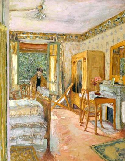 edouard vuillard-habitación iluminada por el sol; soyouthinkyoucansee on tumblr-
