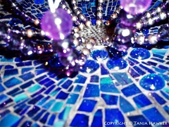 Mosaic Art  Disco in a Birdbath