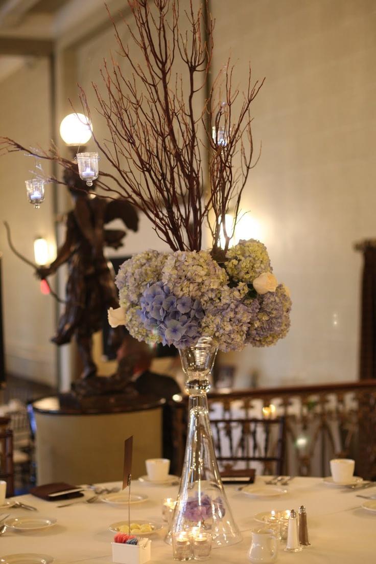 Hydrangea centerpiece flowers centerpieces pinterest
