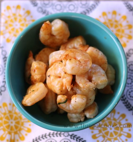 Grilled Cilantro Lime Shrimp from www.thisgalcooks.com #grilling # ...