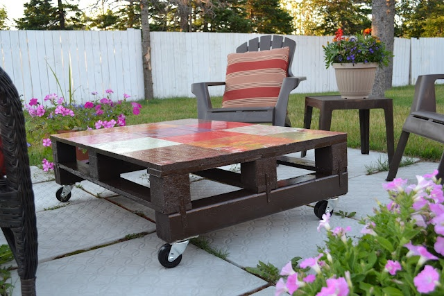 1000 images about pallets skids planters furniture on for Skid pallet furniture