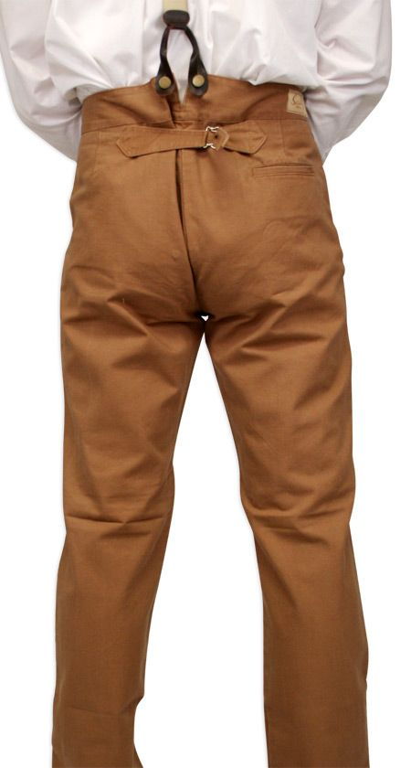 Classic Canvas Trousers – Brown