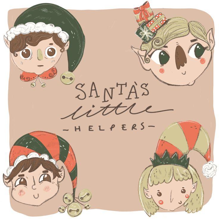 Santas little helpers @jessillustrates