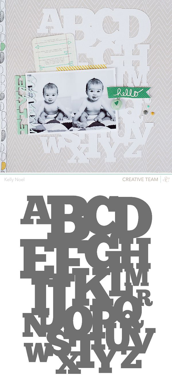 Free ABC cutting file - by Kelly Noel #Silhouette #CutFile