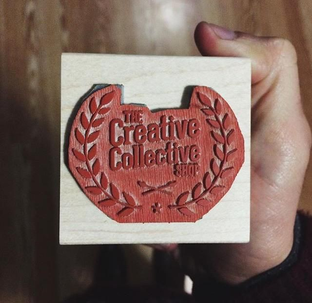 Want to know how custom stamps from www.rubberstamps.net turn out? Here is how. Laser engraved, custom cut and glued. From http://creativecollectiveshop.com/