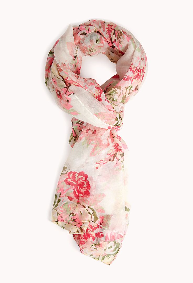 Vibrant Garden Floral Scarf | FOREVER21 Scarf down to stay warm! #Floral #Accessories #Cute