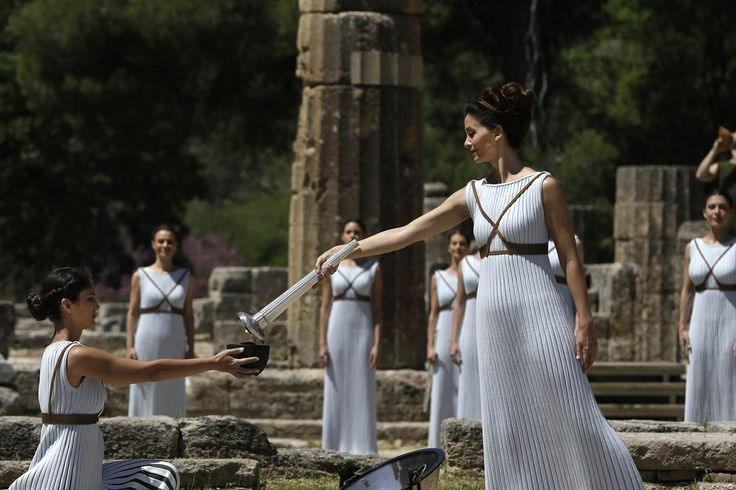 Rio 2016: Olympic Flame Lit in Greek Ruins at Olympia