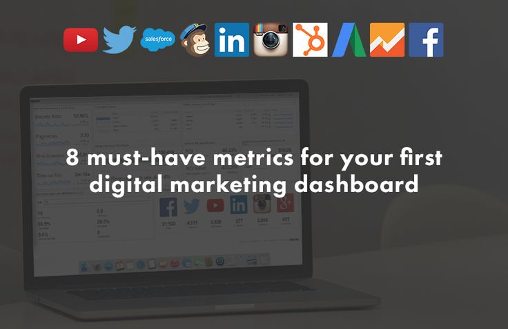 8 must-have metrics for your first digital marketing dashboard