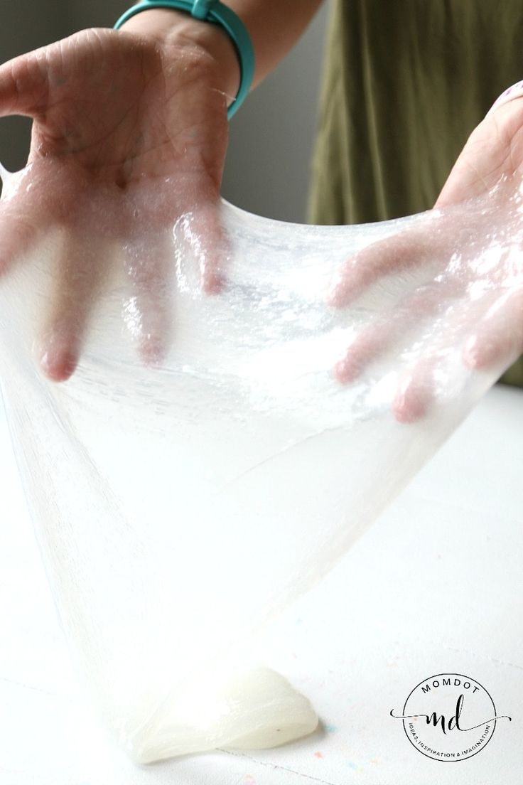 how to make crystal clear slime without glue