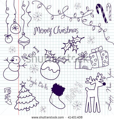 Hand Drawn Illustration Christmas