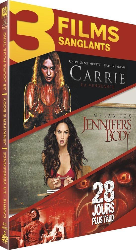 Carrie - La vengeance + Jennifer s Body + 28 jours plus tard - DVD NEUF