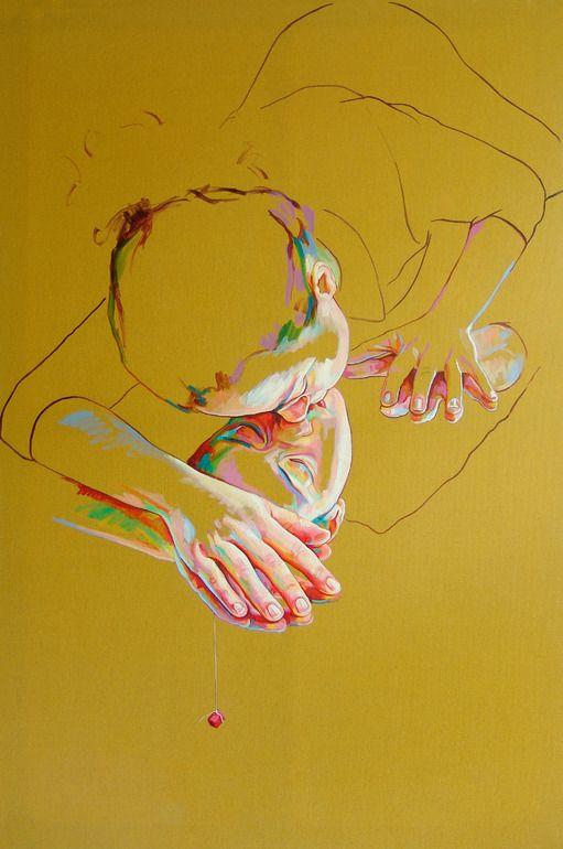 I love you - Cristina Troufa .portuguese painter -Selective colouring.