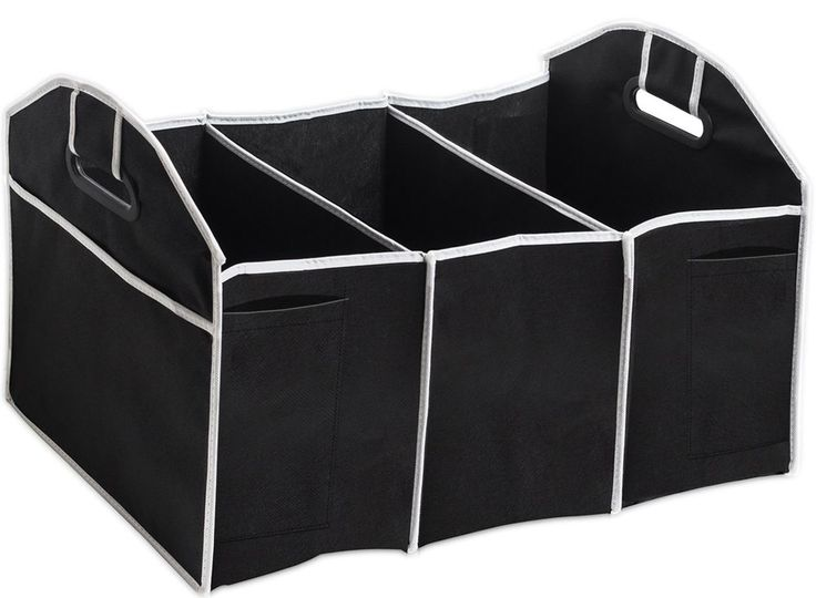 Car Trunk Organizer Storage Portable Collapsible Flat SUV Groceries Vehicle Box #CarTrunkOrganizer