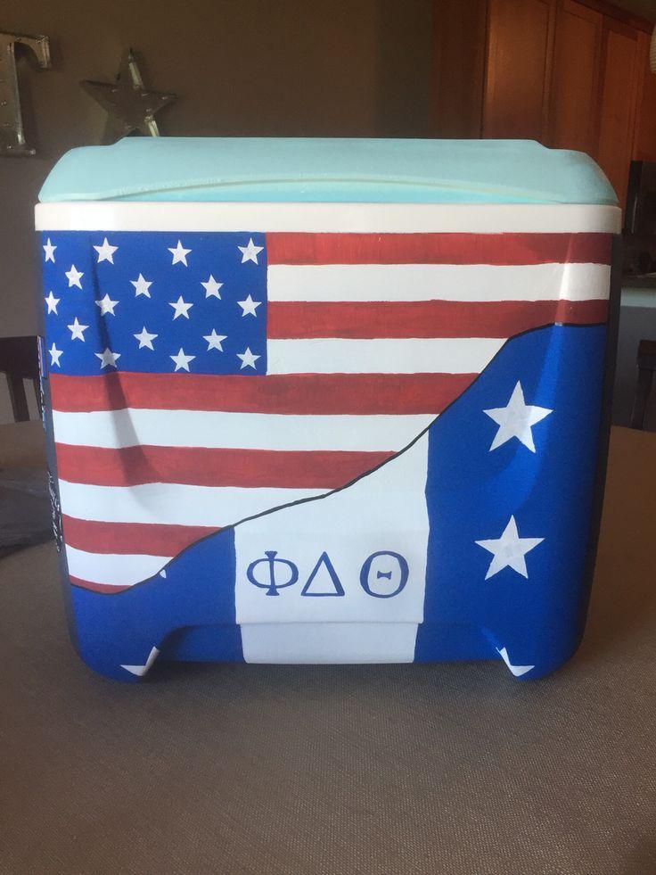 Painter cooler front, america, phi delta theta, phi delt, fraternity, flag