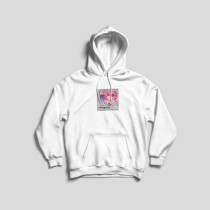 Pastel goth japanese anime baby hoodie white from