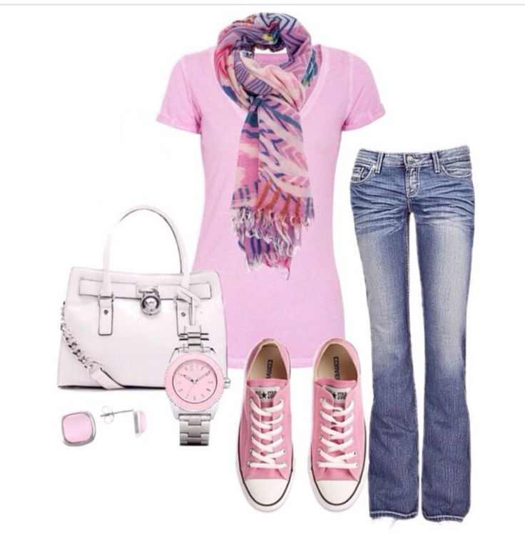 Outfit Casual! modo rosa