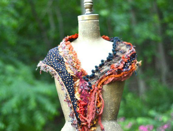 Leggera martellata sciarpa arancione, uno di un accessorio di tipo
