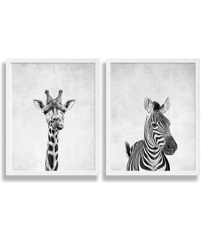 Impresión de dos estampados de Animal jirafa por CocoAndJames