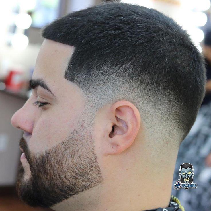 faded buzz cut with beard