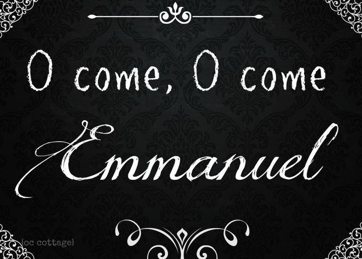 O Come O Come Emmanuel  Professor Carol