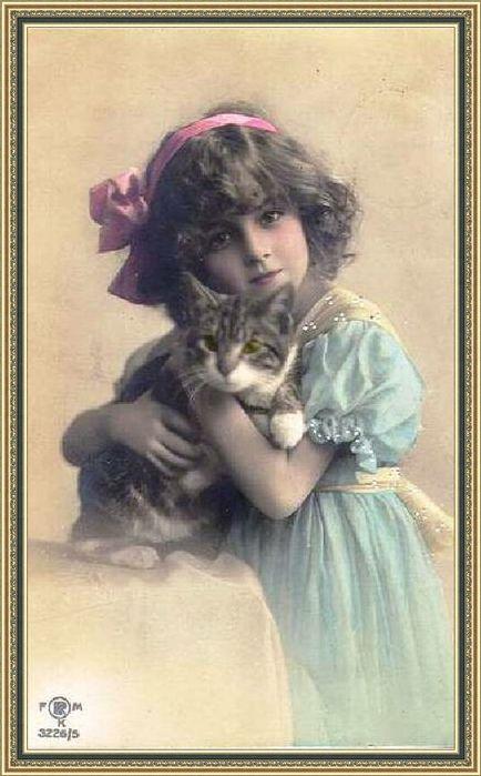 Цветов для, открытки женщина и кошка