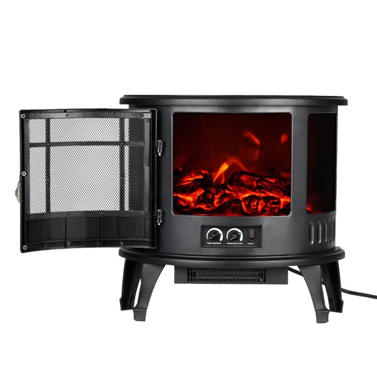 "Decdeal Free Standing Electric Fireplace Heater with Fire Flame Adjustment 1500W, 23""11""22"""