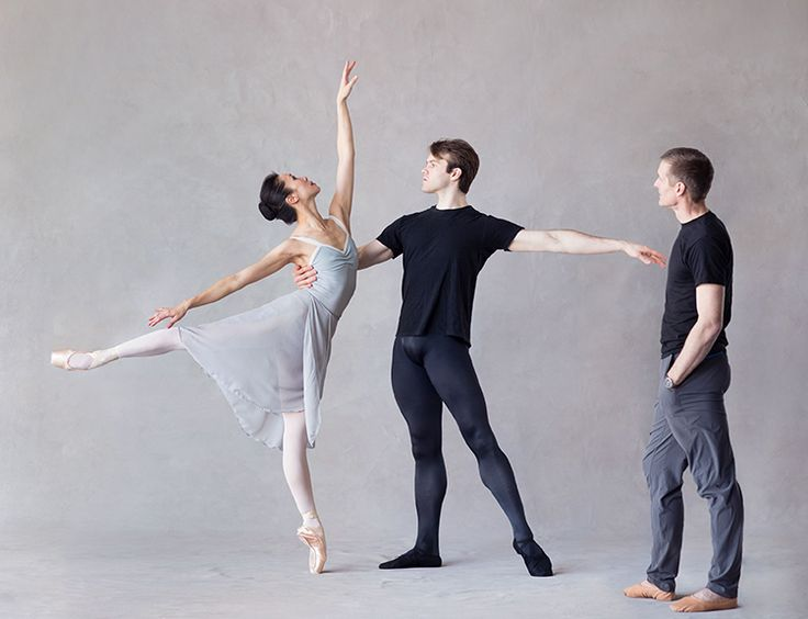 Xiao Nan Yu and McGee Maddox with Lindsay Fischer in Allegro Brillante. Photo by Karolina Kuras.