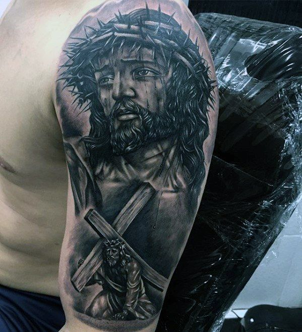 Top 51 3d Jesus Tattoo Ideas 2020 Inspiration Guide Jesus