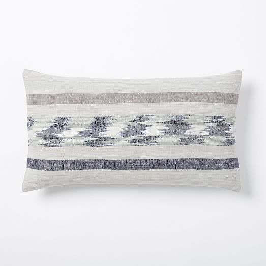 Silk Banded Ikat Pillow Cover | west elm