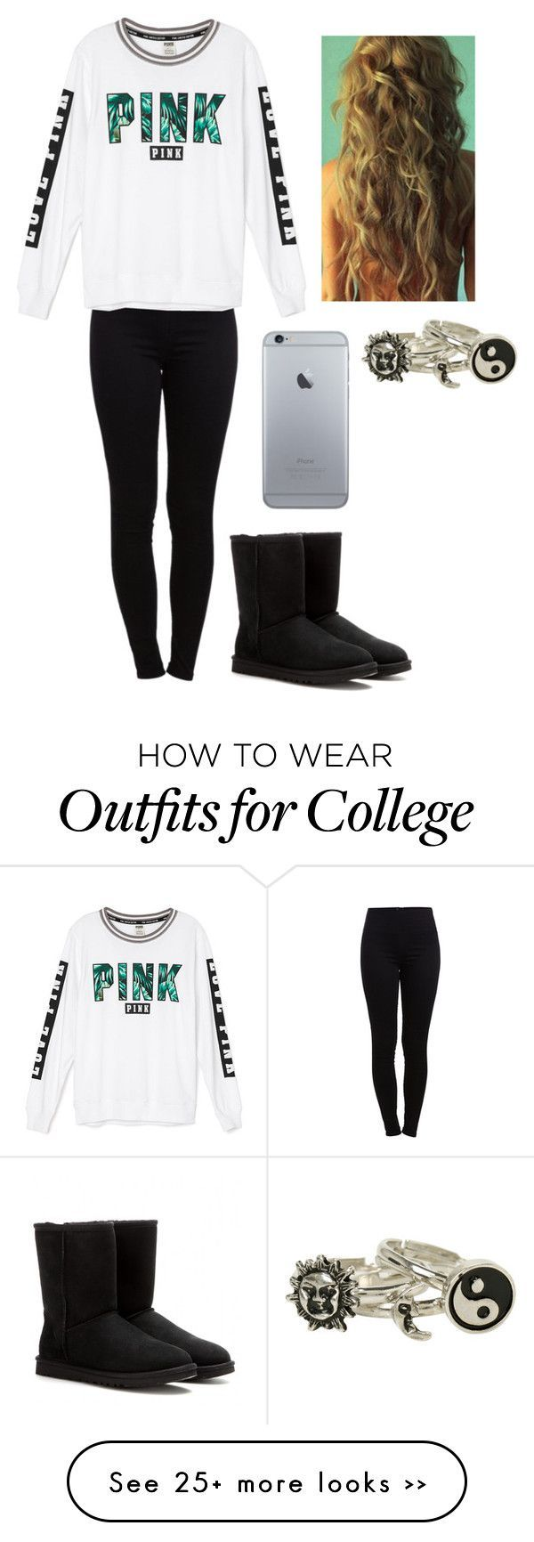 """Untitled #553"" by lauryn-benge on Polyvore featuring Pieces and UGG Australia"