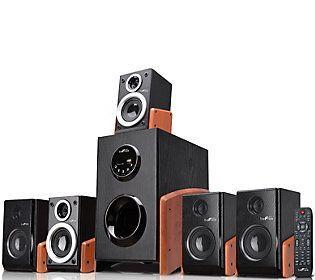 beFree 5.1-Channel Surround Sound Bluetooth Speaker - Wood