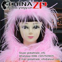 CHINAZP Groothandel 2 yards/lot 35 gram Topkwaliteit Geverfd Roze Struisvogelveren Boas en Sjaals(China (Mainland))